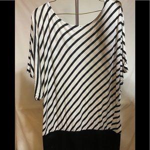 Annabelle Tops - Annabelle white & black stripped shirt
